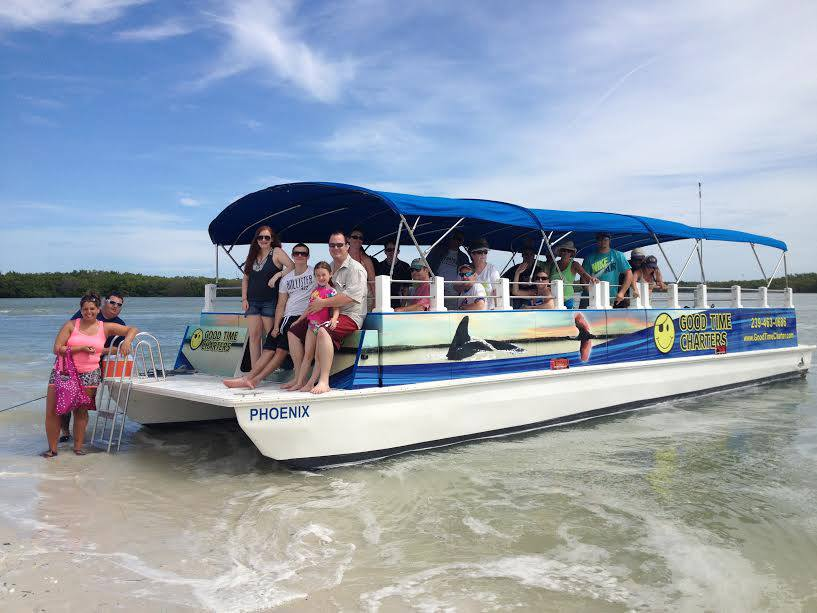 Fort myers beach dolphin tours good time charters for Fishing charter fort myers beach fl